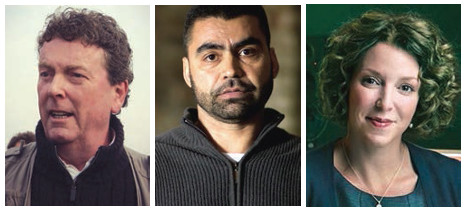 Left to right: Jamie Doran, Najibullah Quraishi and Raney Aronson.